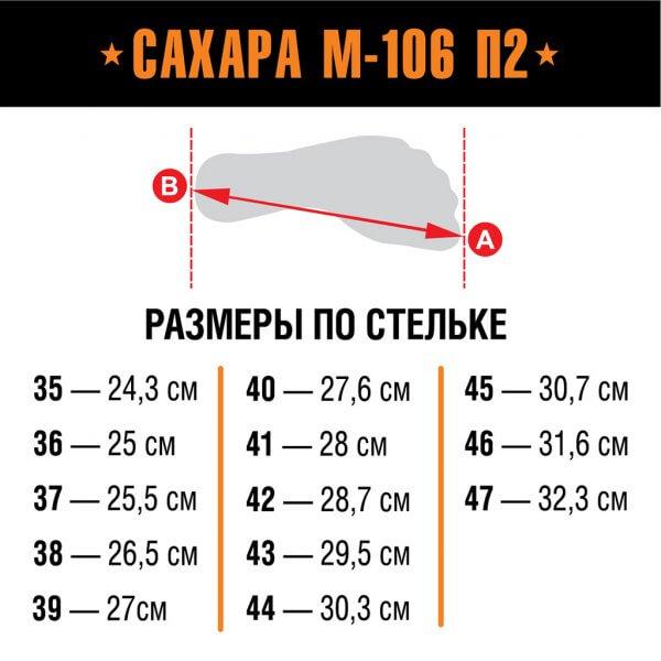 Берцы Сахара М-106 П2