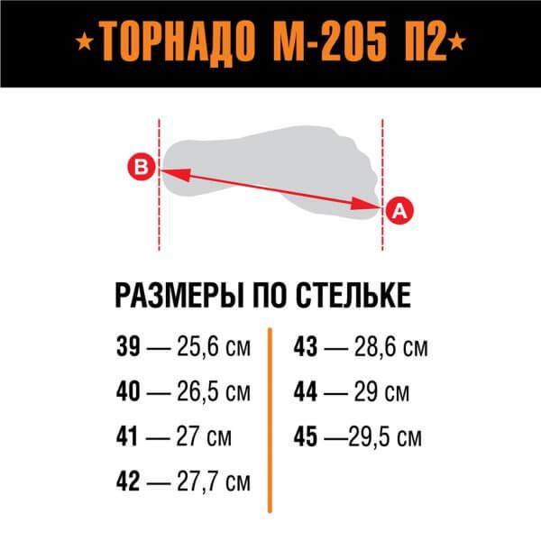 Берцы Торнадо М-205 П2